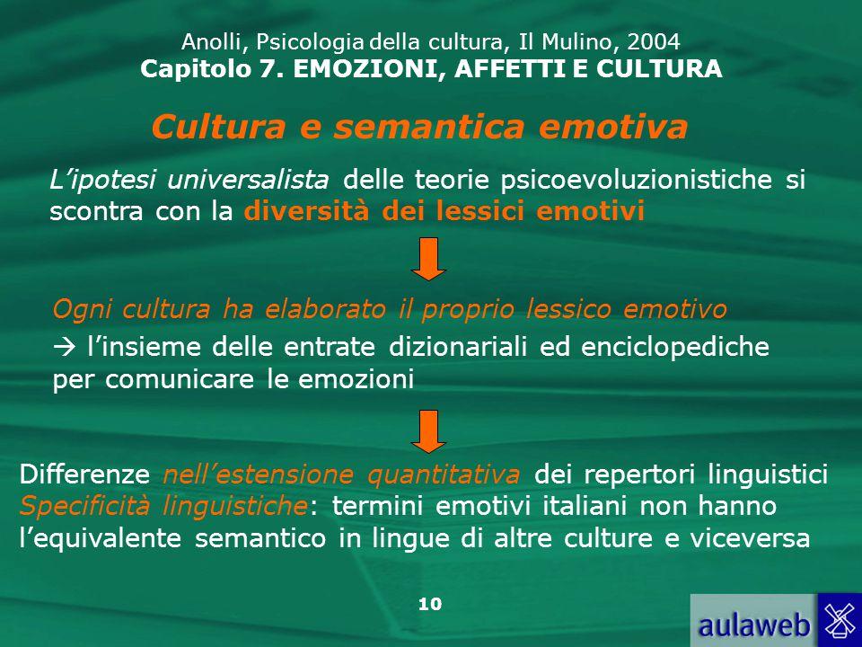 Cultura e semantica emotiva