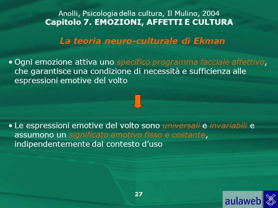 La teoria neuro-culturale di Ekman