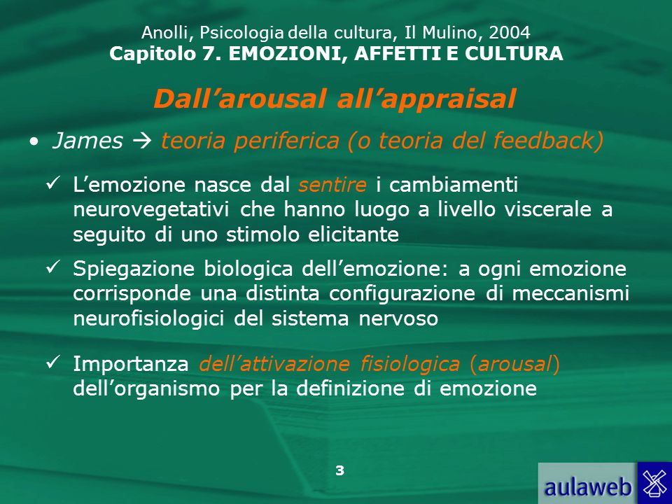 Dall'arousal all'appraisal