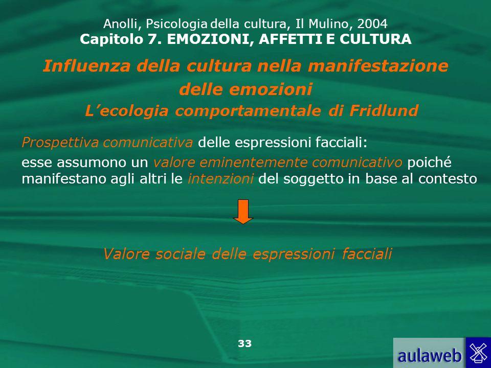 Influenza della cultura nella manifestazione delle emozioni