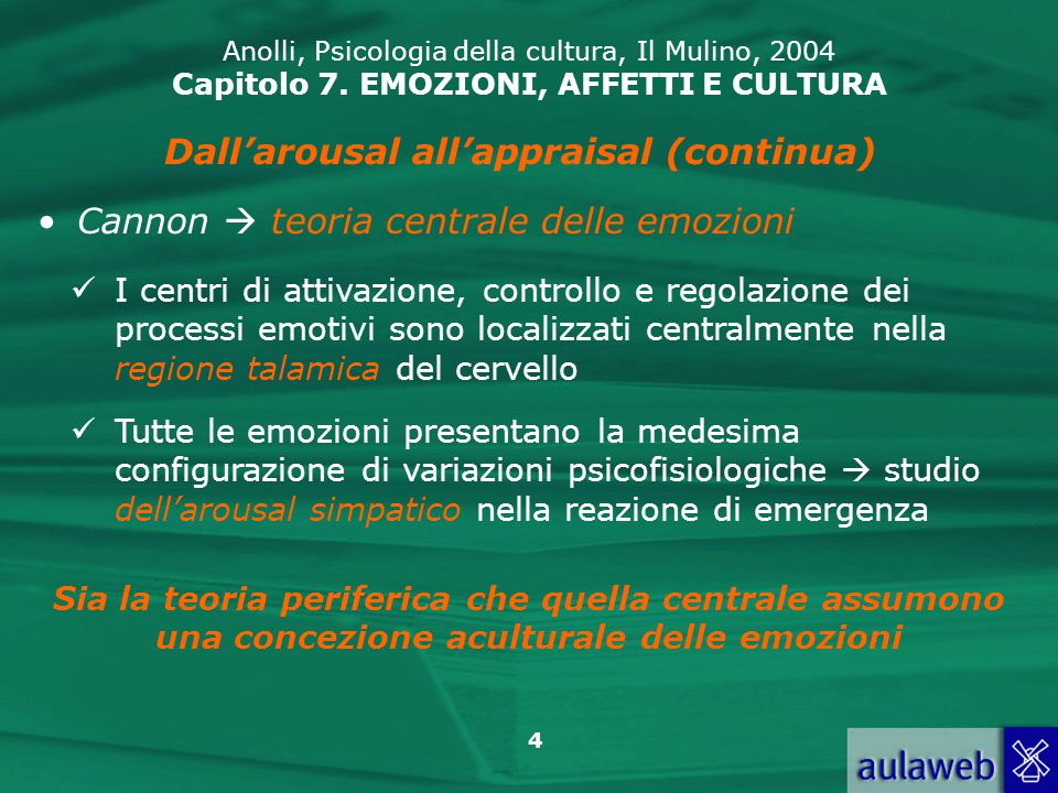 Dall'arousal all'appraisal (continua)