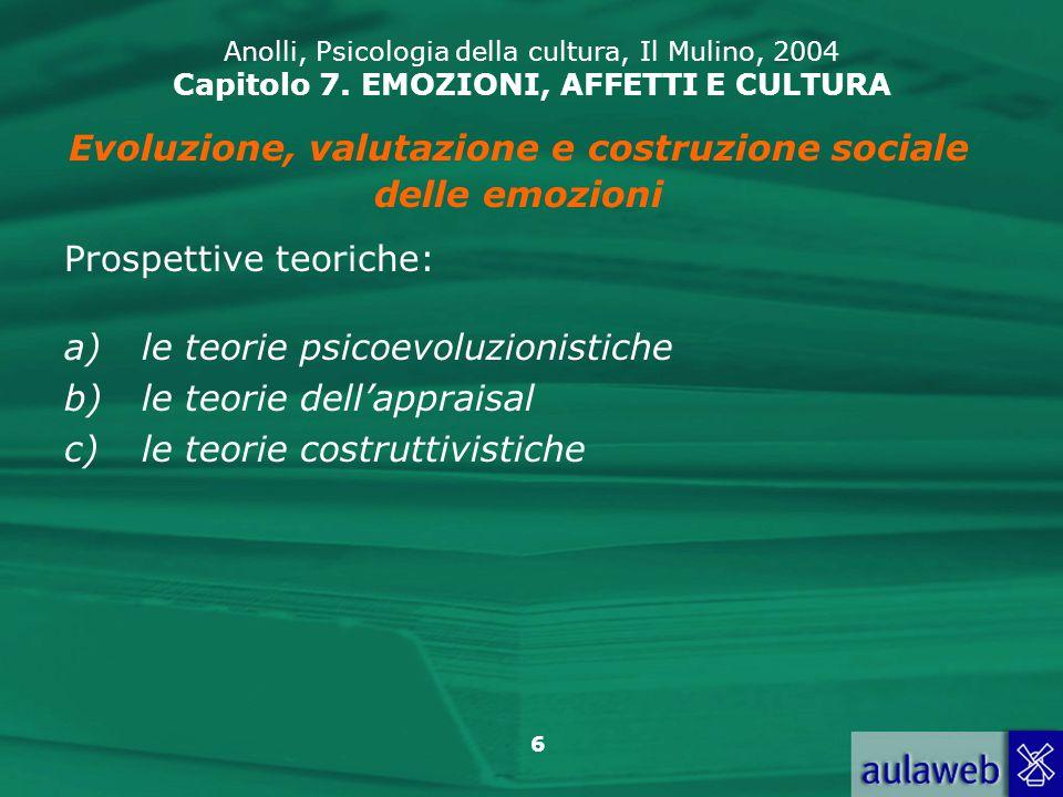 Evoluzione, valutazione e costruzione sociale
