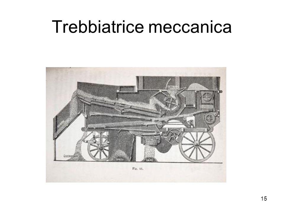 Trebbiatrice meccanica