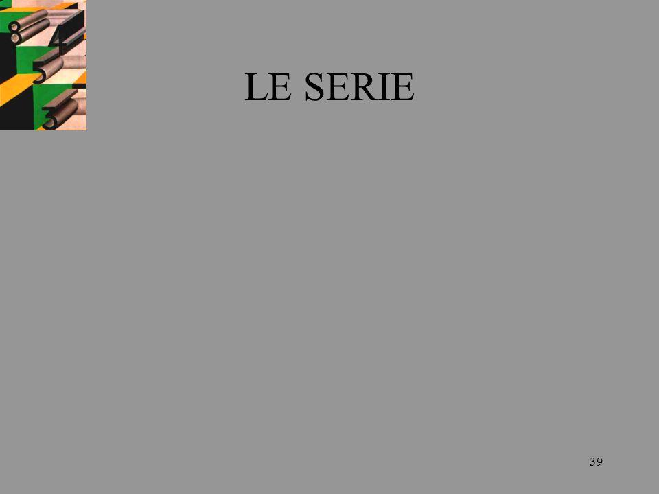 LE SERIE