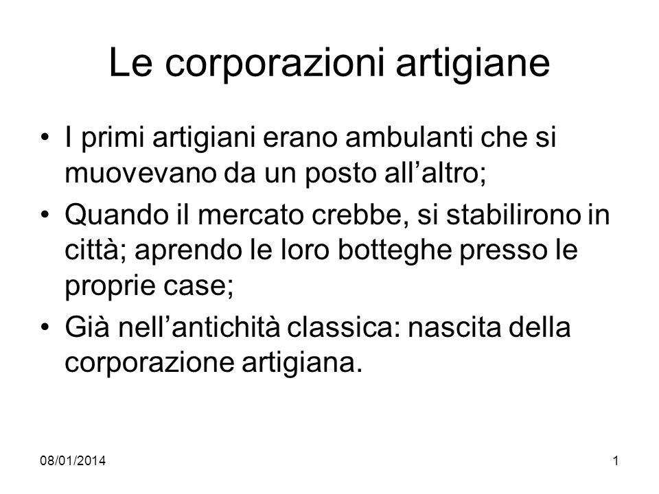 Le corporazioni artigiane