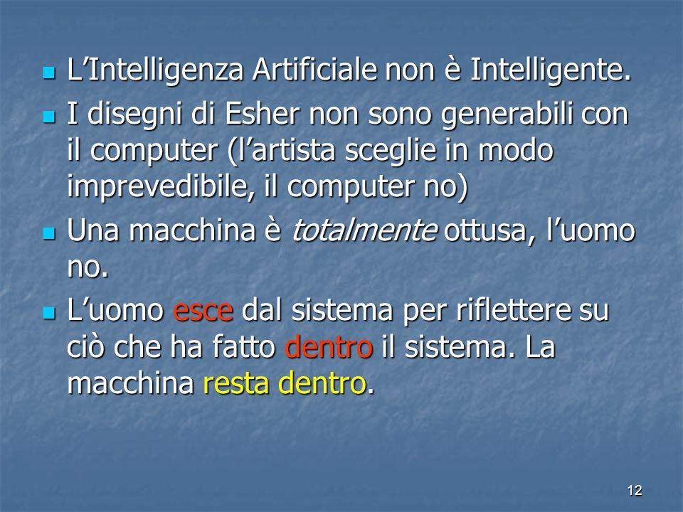 L'Intelligenza Artificiale non è Intelligente.