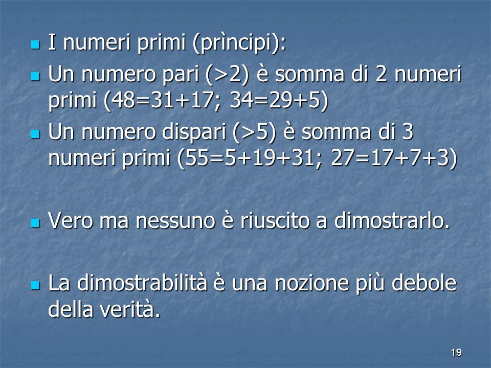 I numeri primi (prìncipi):