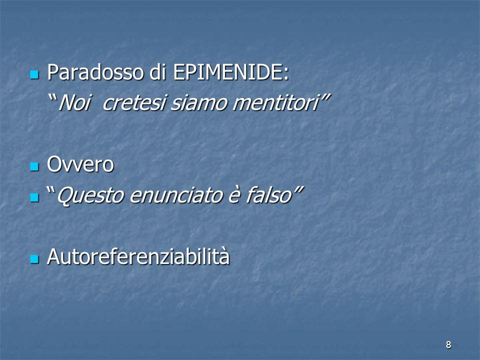 Paradosso di EPIMENIDE:
