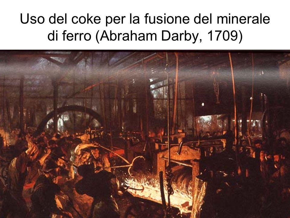 Uso del coke per la fusione del minerale di ferro (Abraham Darby, 1709)