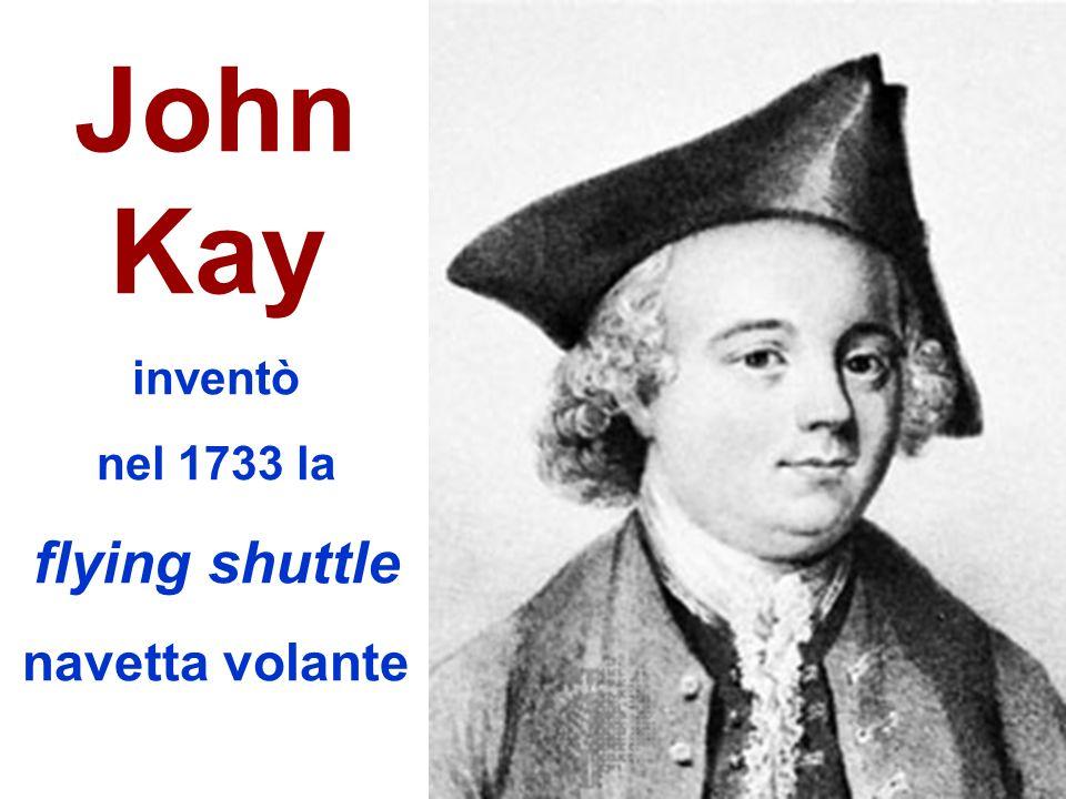 John Kay inventò nel 1733 la flying shuttle navetta volante