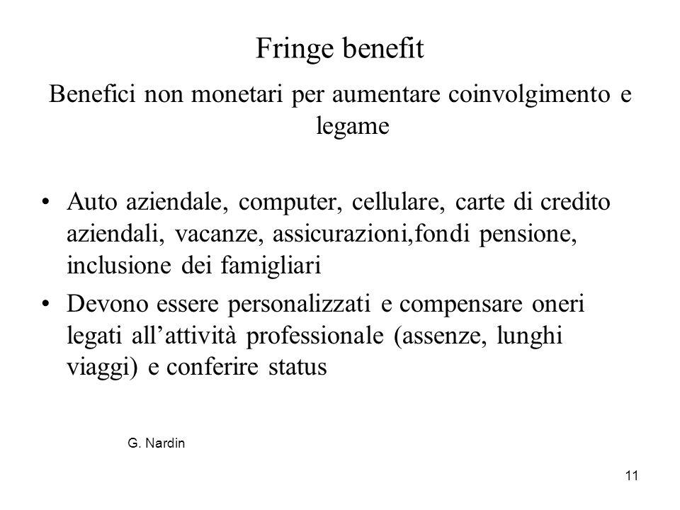 Benefici non monetari per aumentare coinvolgimento e legame