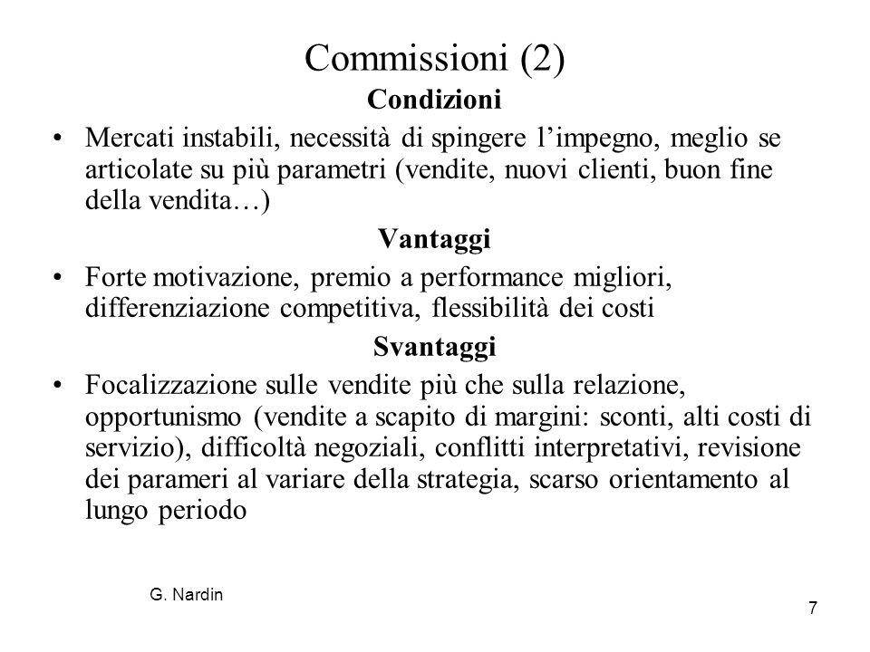 Commissioni (2) Condizioni