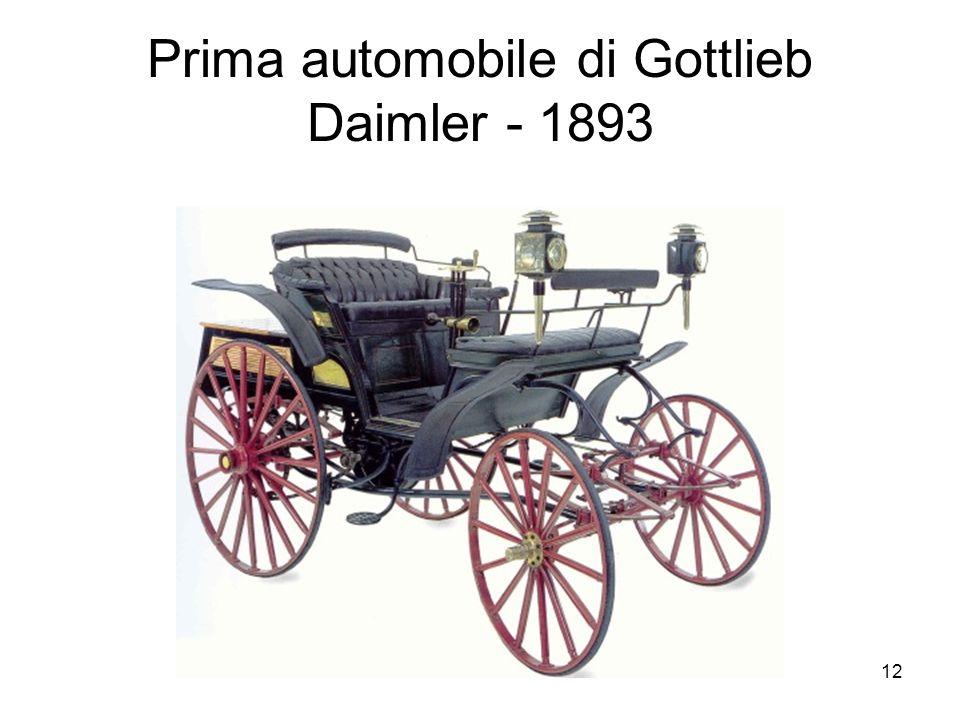 Prima automobile di Gottlieb Daimler - 1893