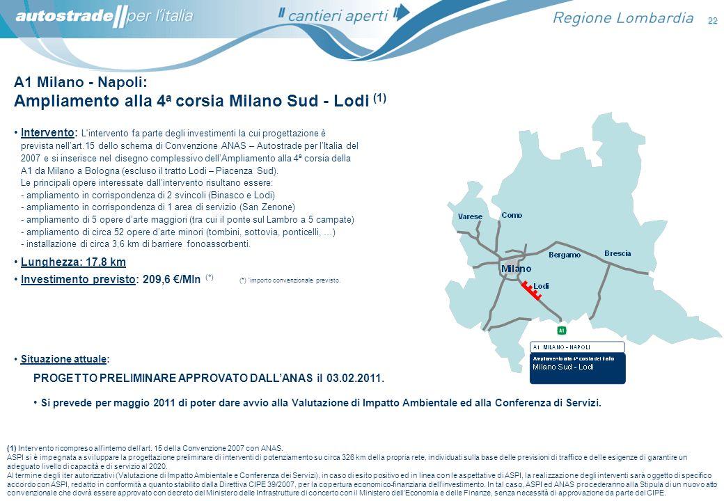 Ampliamento alla 4a corsia Milano Sud - Lodi (1)