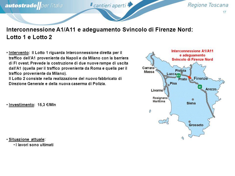Interconnessione A1/A11 e adeguamento Svincolo di Firenze Nord: