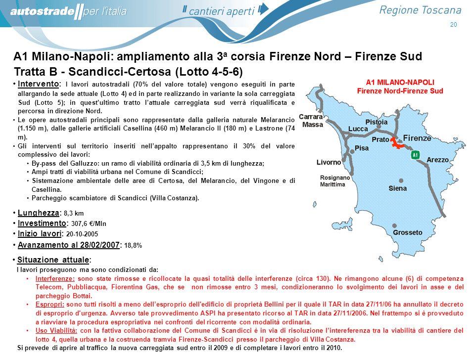Tratta B - Scandicci-Certosa (Lotto 4-5-6)