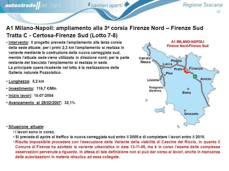 Tratta C - Certosa-Firenze Sud (Lotto 7-8)