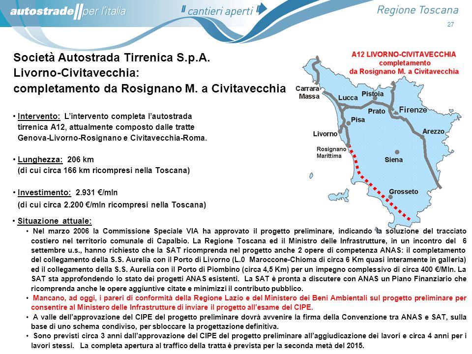 Società Autostrada Tirrenica S.p.A. Livorno-Civitavecchia: