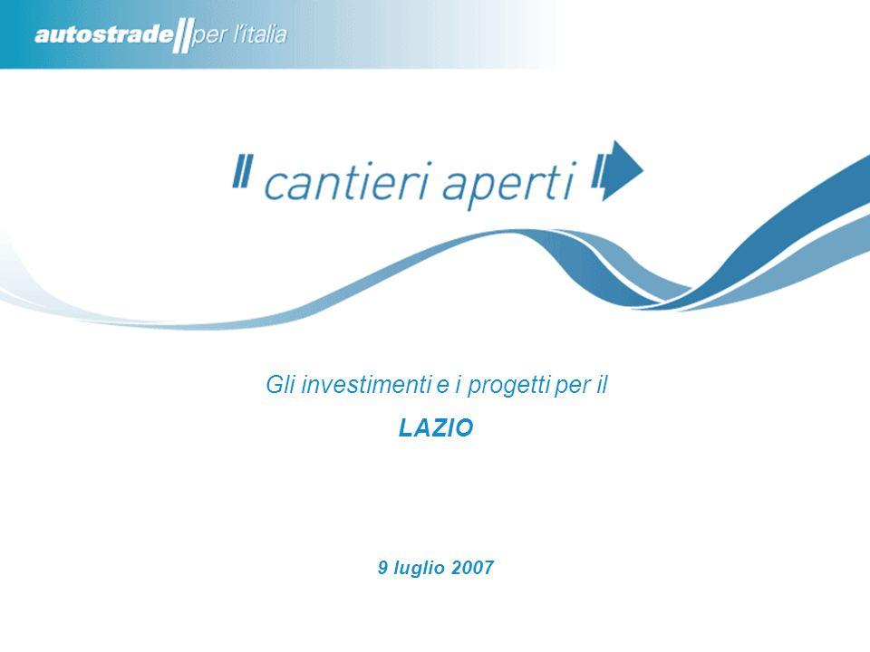 Gli investimenti e i progetti per il