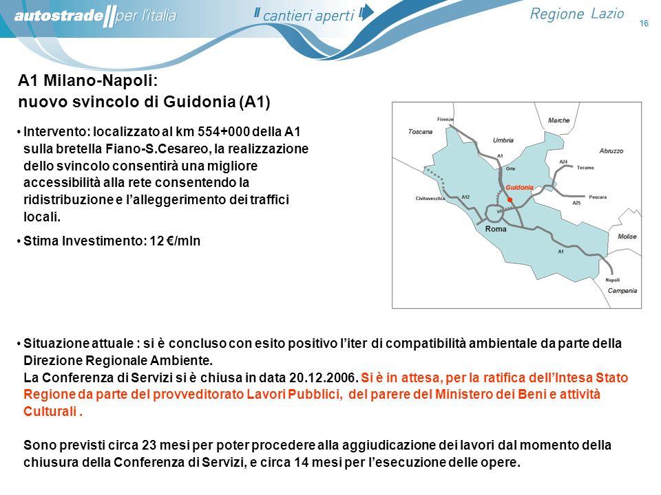 nuovo svincolo di Guidonia (A1)