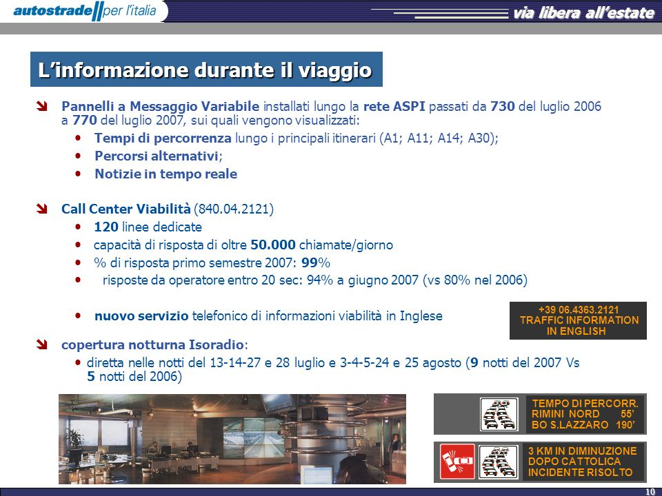 L'informazione durante il viaggio