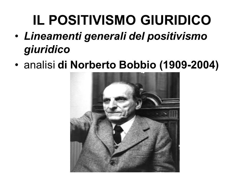 IL POSITIVISMO GIURIDICO