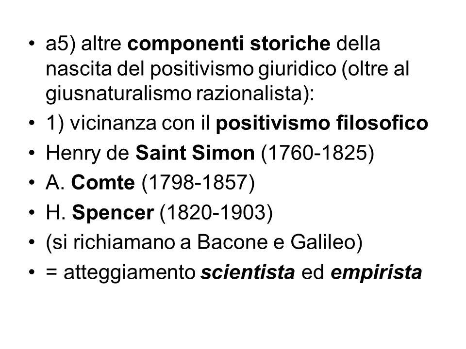 a5) altre componenti storiche della nascita del positivismo giuridico (oltre al giusnaturalismo razionalista):