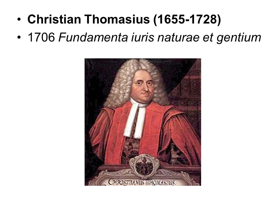Christian Thomasius (1655-1728)