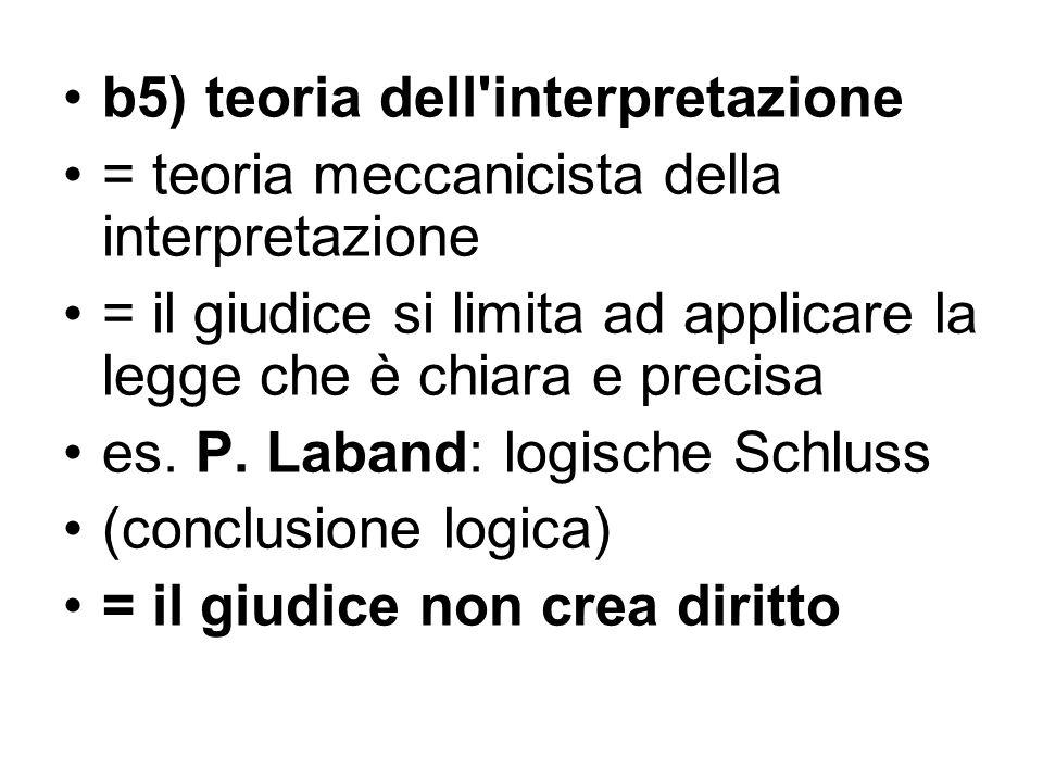 b5) teoria dell interpretazione