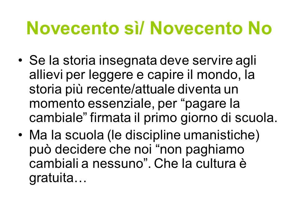 Novecento sì/ Novecento No