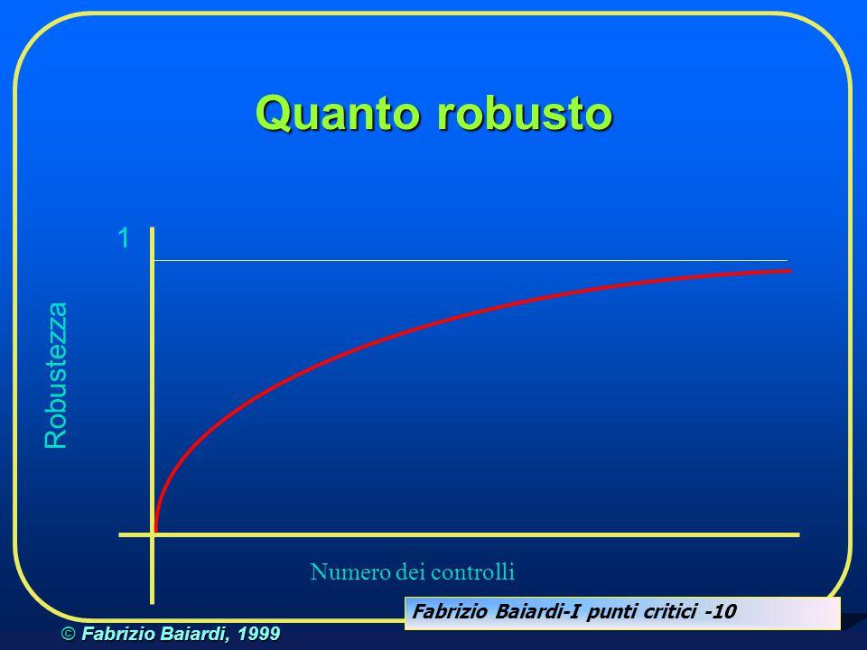 Quanto robusto 1 Robustezza Numero dei controlli