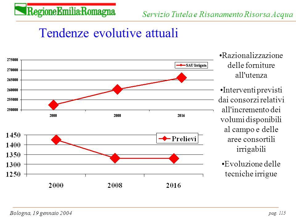 Tendenze evolutive attuali