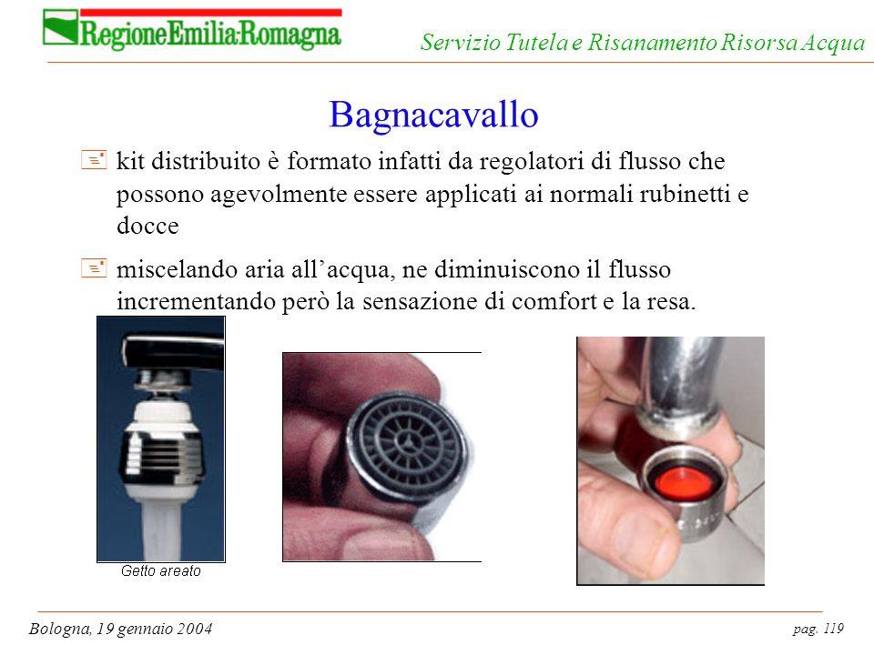 Bagnacavallo kit distribuito è formato infatti da regolatori di flusso che possono agevolmente essere applicati ai normali rubinetti e docce.
