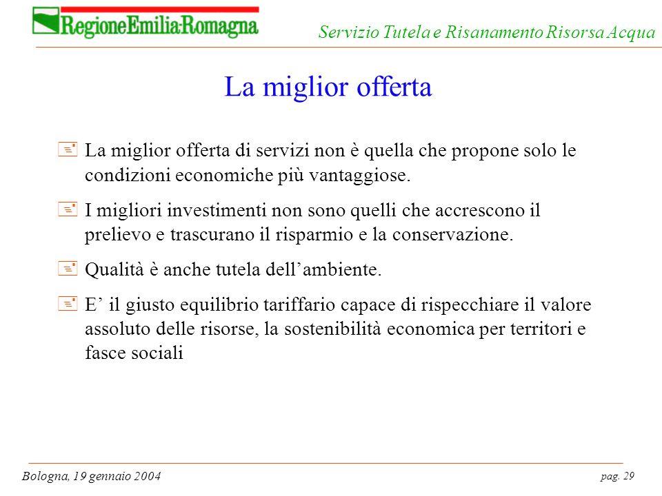 La miglior offerta La miglior offerta di servizi non è quella che propone solo le condizioni economiche più vantaggiose.