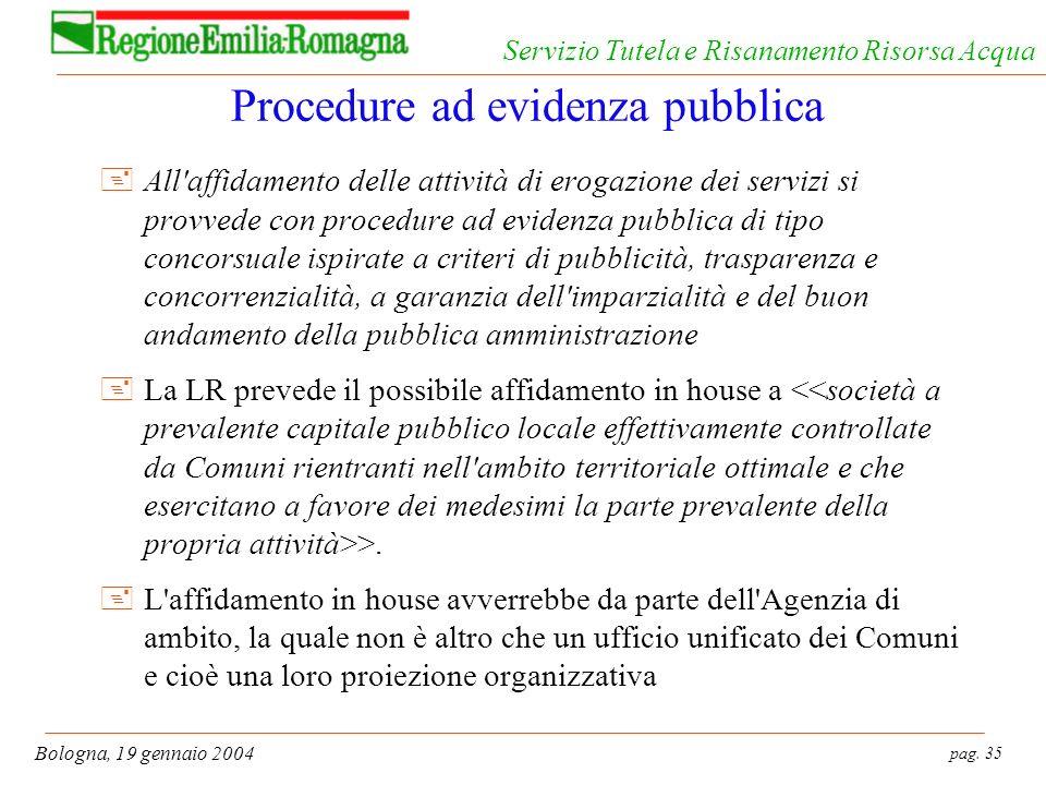 Procedure ad evidenza pubblica