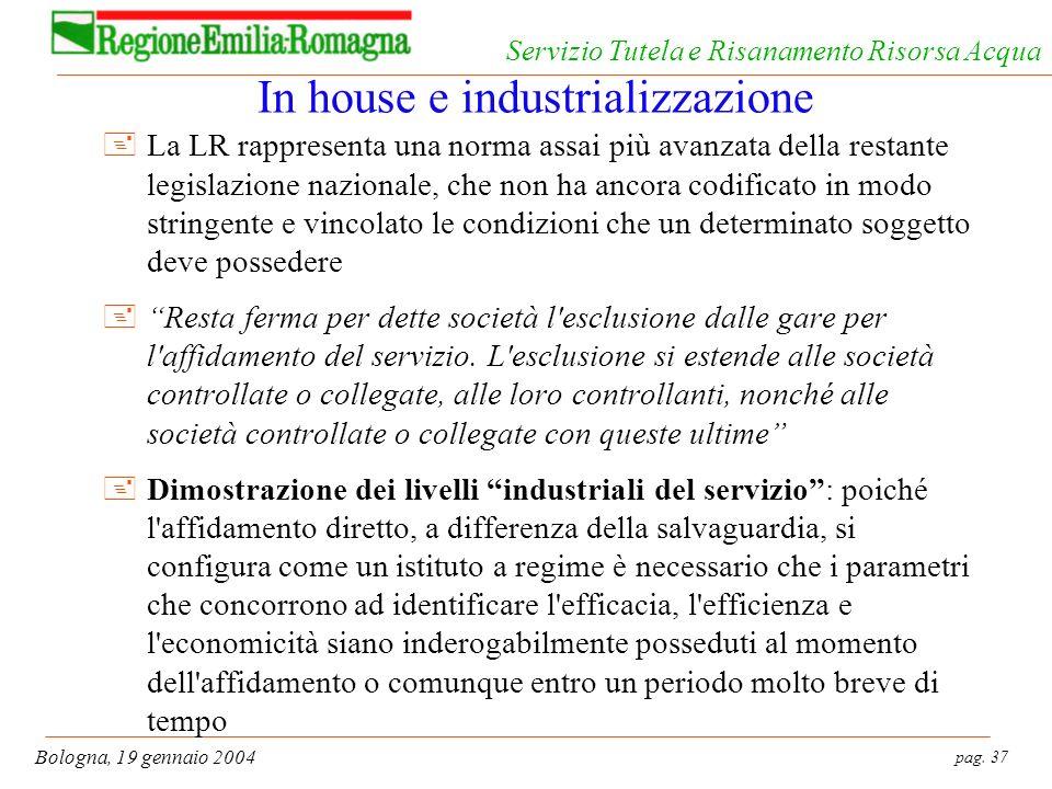 In house e industrializzazione