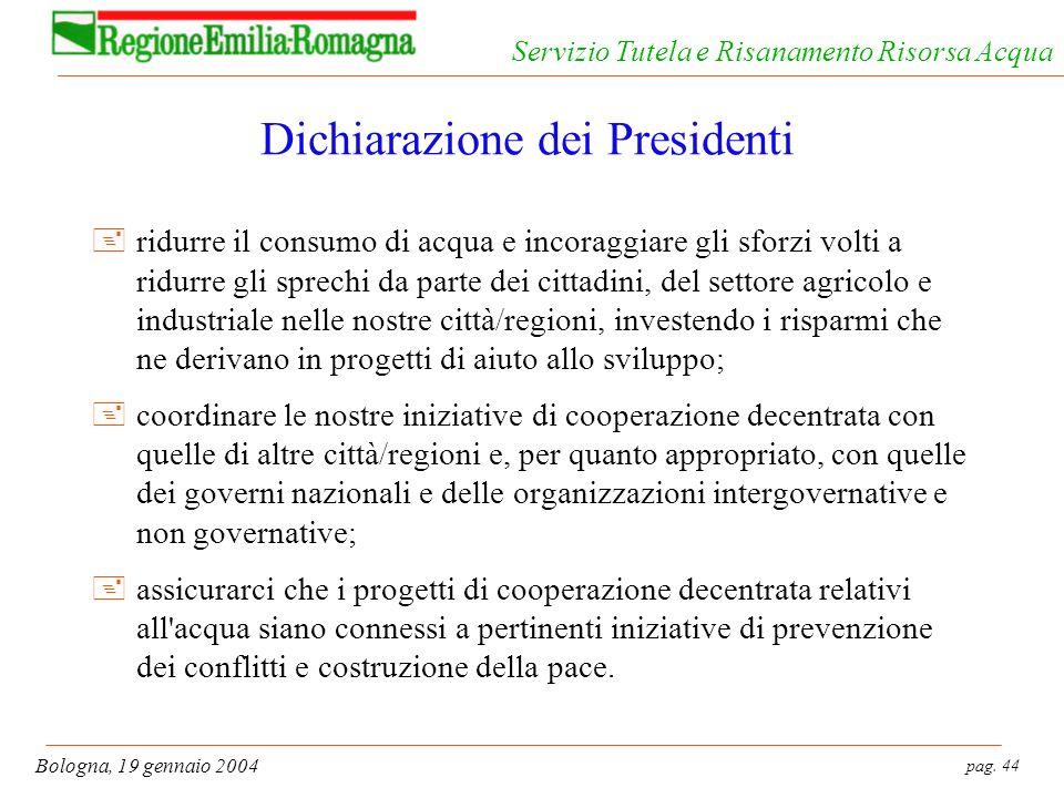 Dichiarazione dei Presidenti