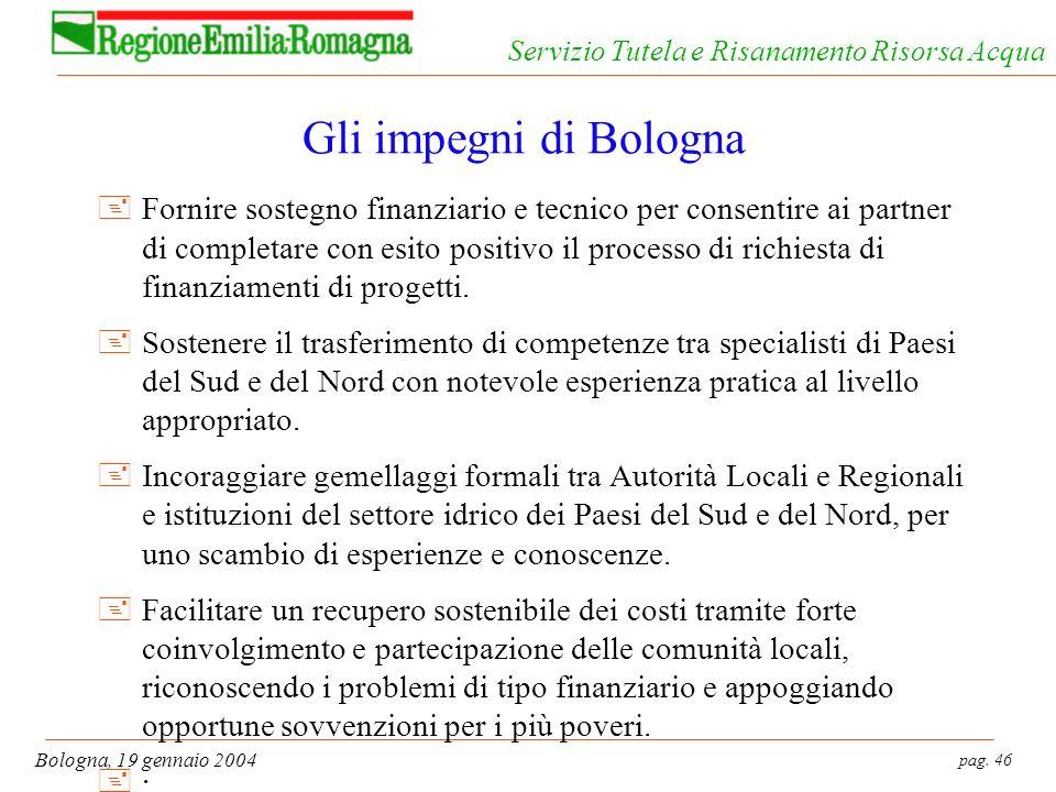 Gli impegni di Bologna