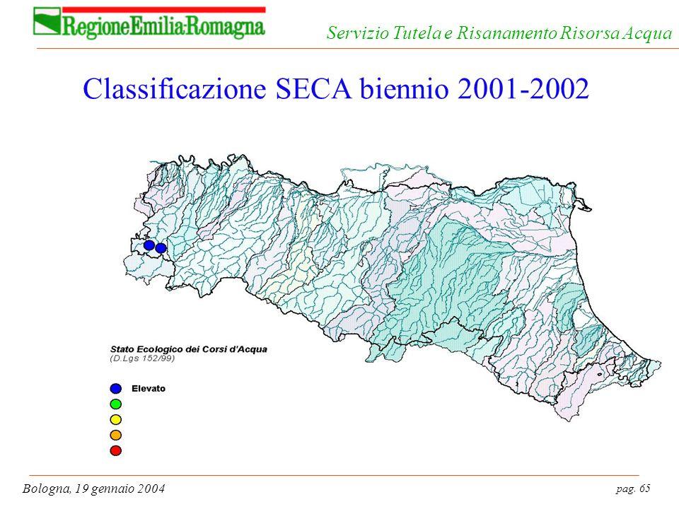 Classificazione SECA biennio 2001-2002