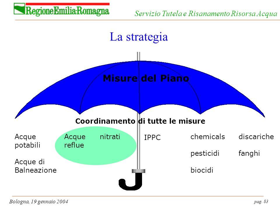 La strategia Misure del Piano Coordinamento di tutte le misure