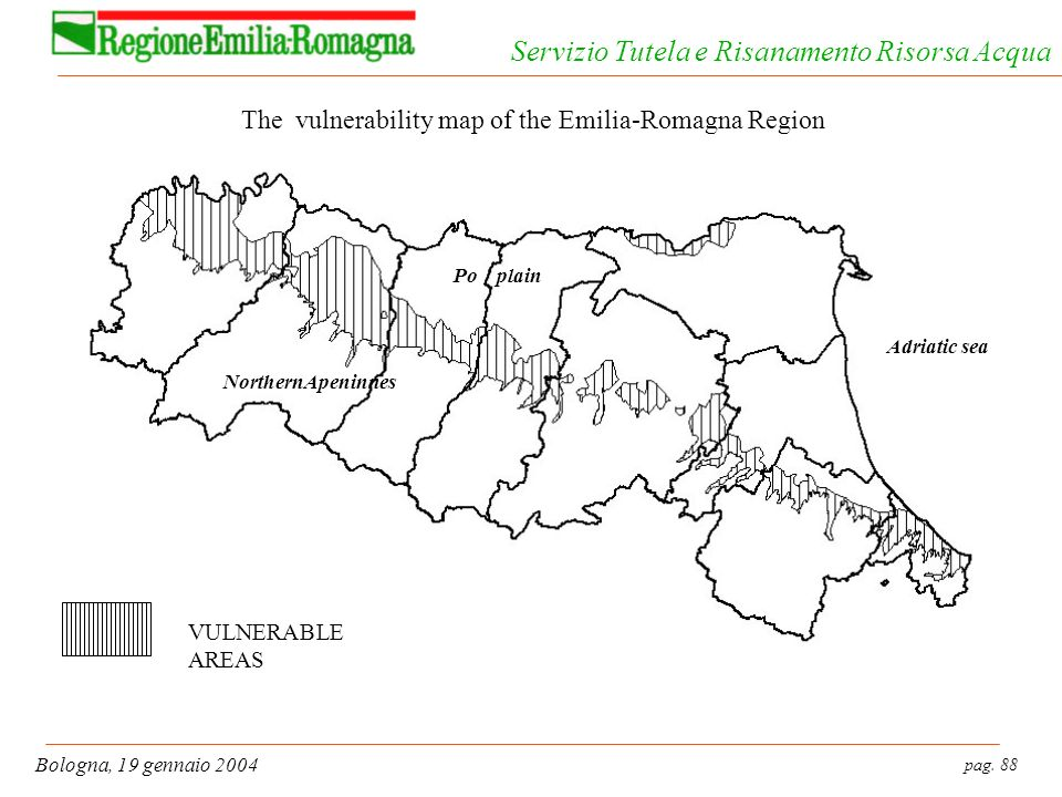 The vulnerability map of the Emilia-Romagna Region