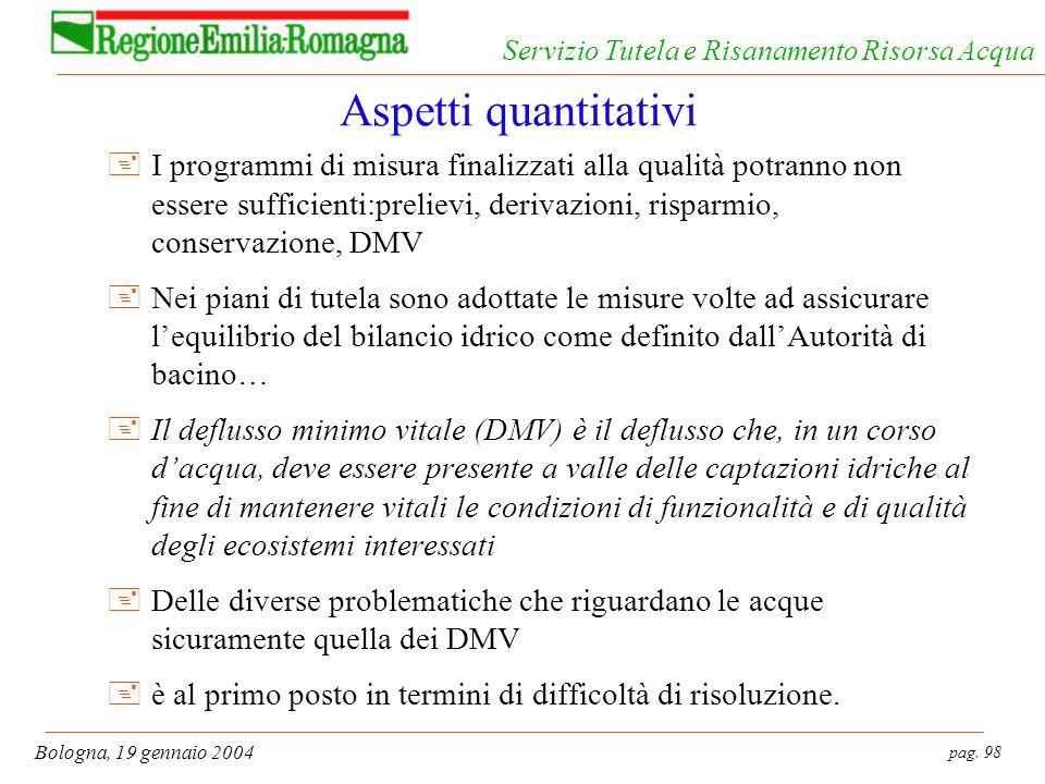 Aspetti quantitativi