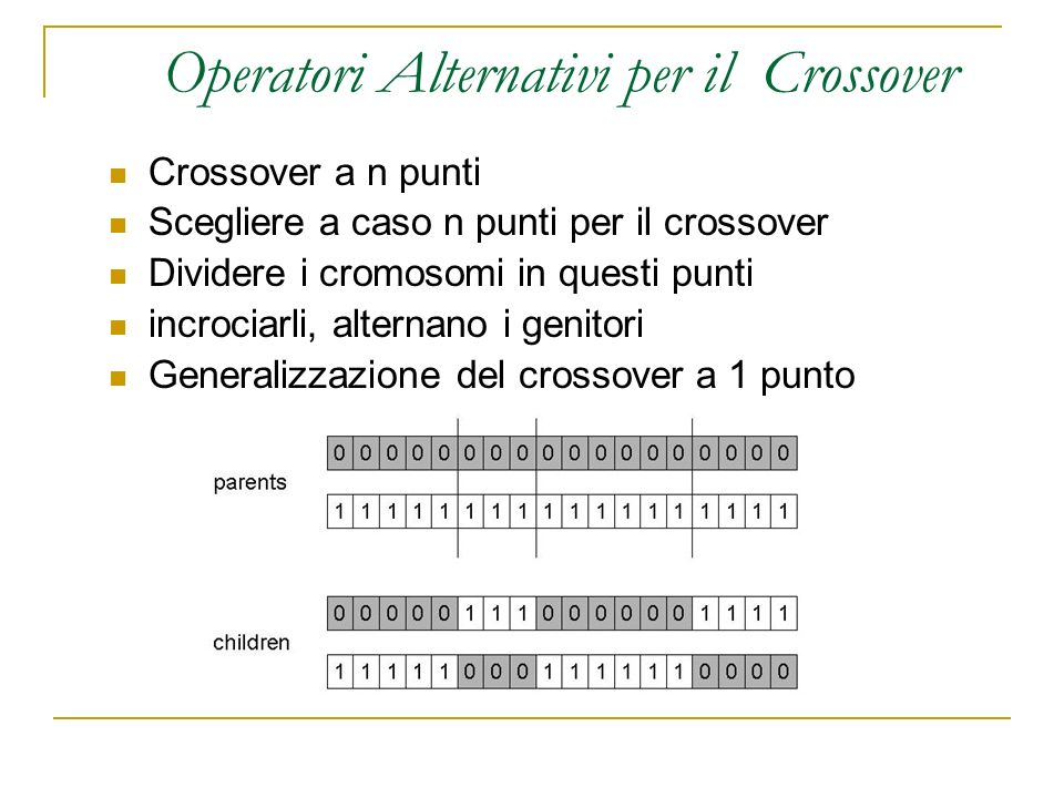 Operatori Alternativi per il Crossover
