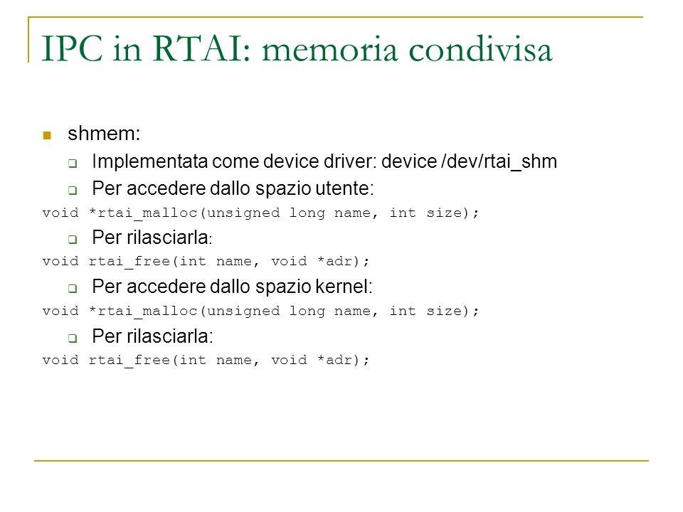 IPC in RTAI: memoria condivisa
