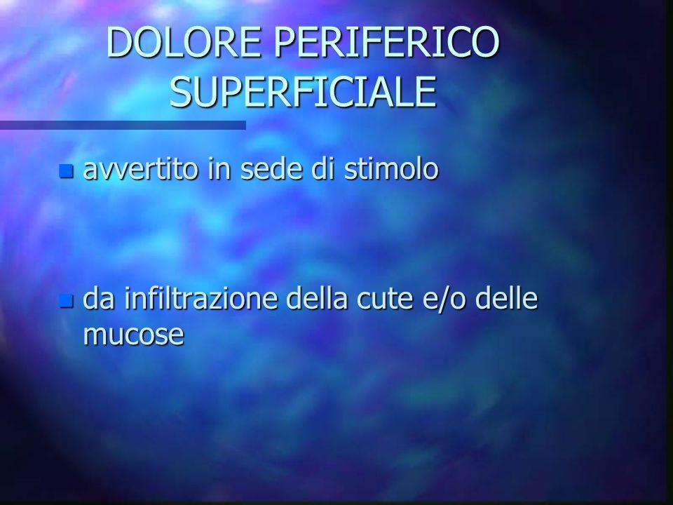 DOLORE PERIFERICO SUPERFICIALE