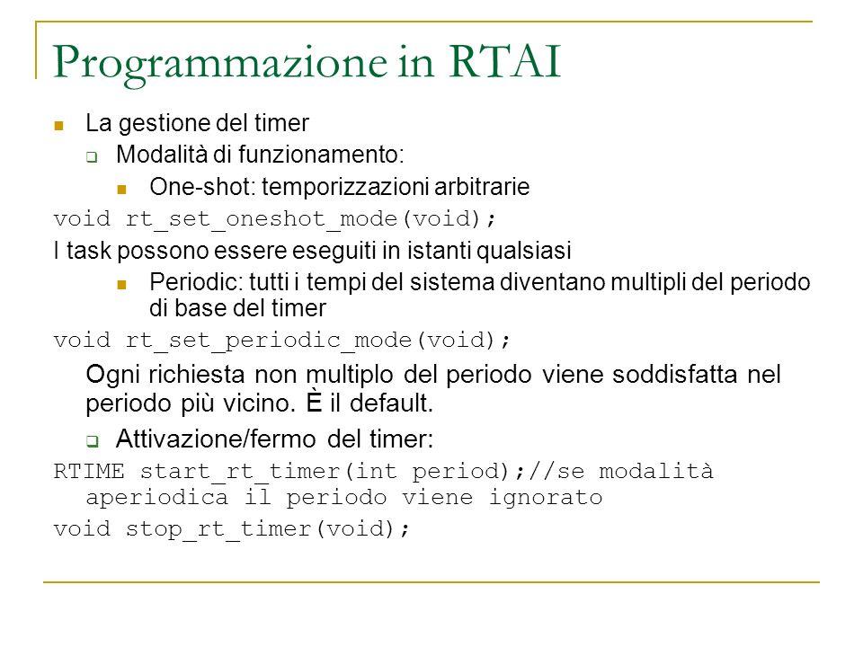 Programmazione in RTAI