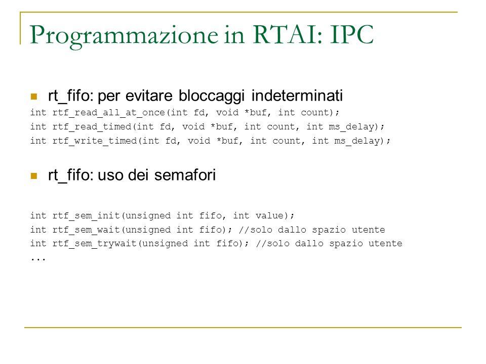Programmazione in RTAI: IPC