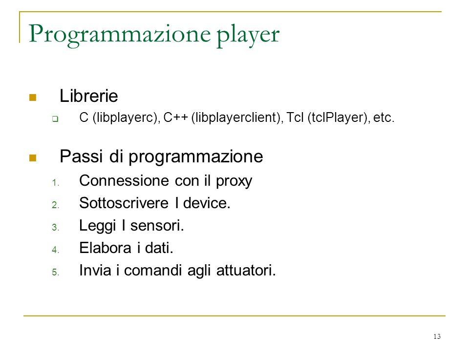 Programmazione player