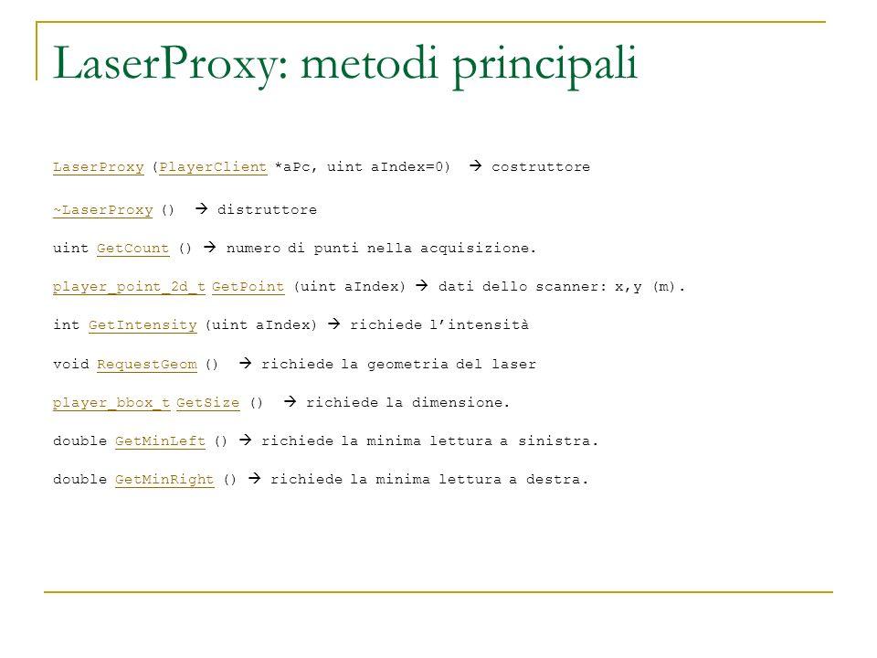 LaserProxy: metodi principali
