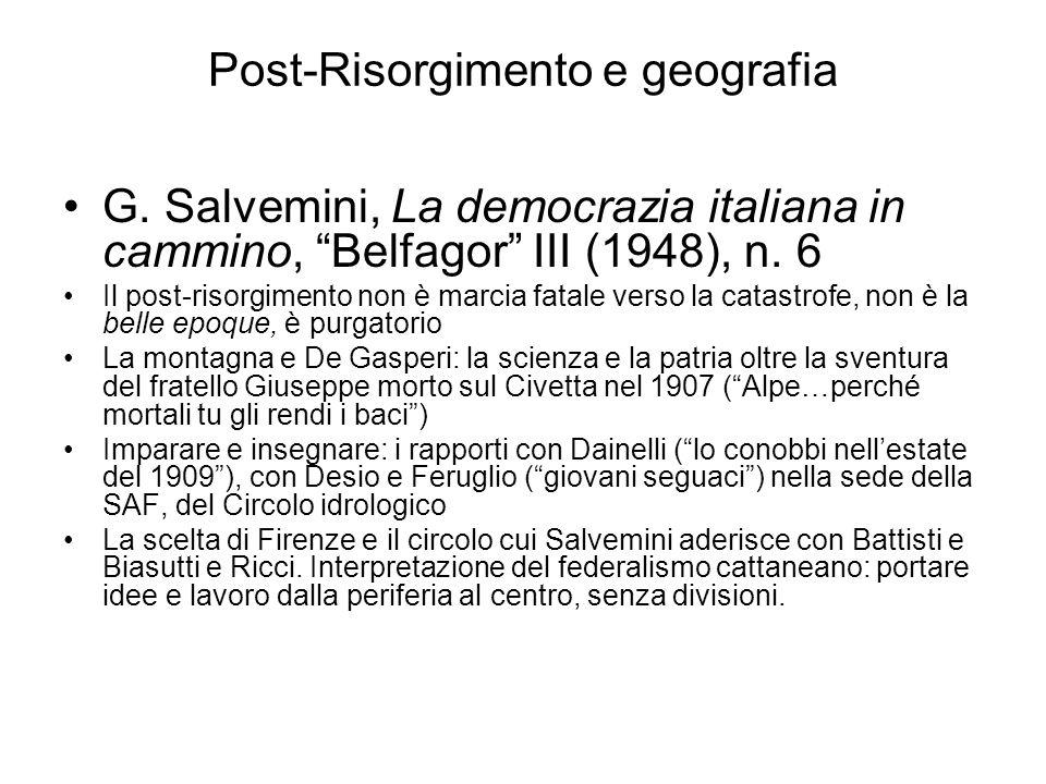 Post-Risorgimento e geografia
